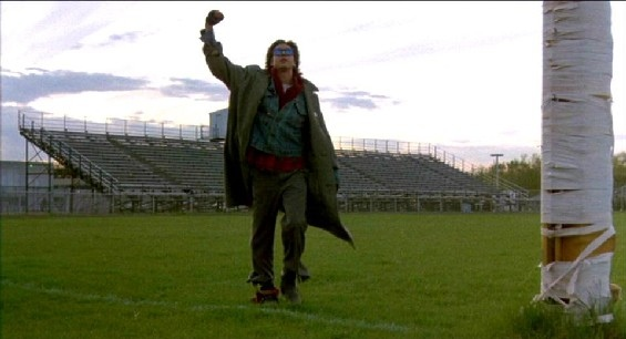 The ending scene of the Breakfast Club