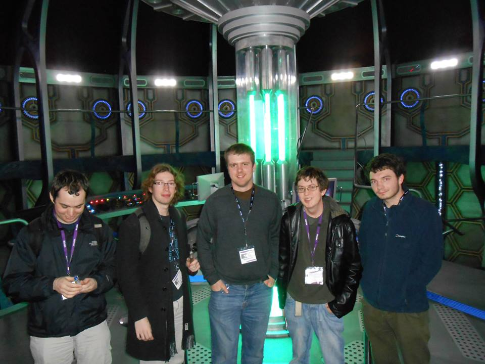 Me and my friends inside the set of the TARDIS
