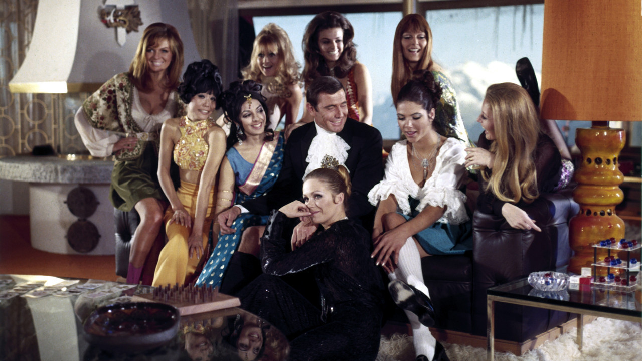 The cast of On Her Majesty's Secret Service