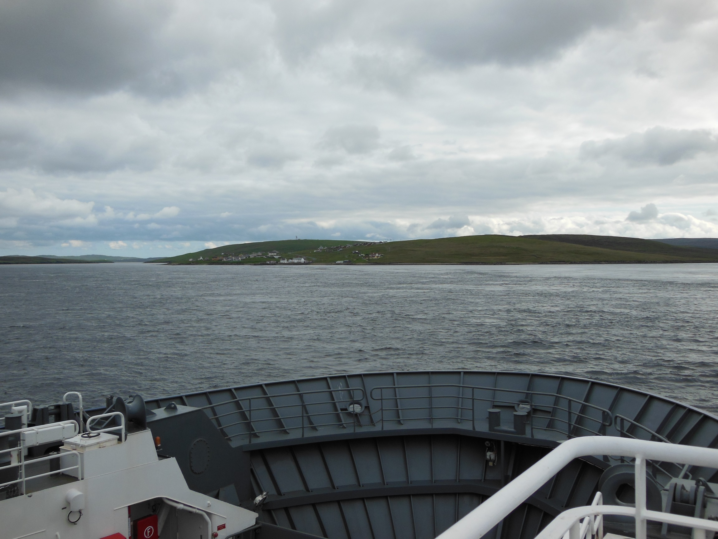 Photo from the ferry to Unst